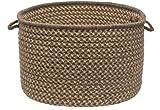 Natural Wool Houndstooth Storage Basket Color: Caramel