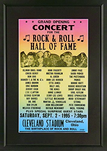 (Rock And Roll Hall of Fame Grand Opening Concert Poster (Framed))