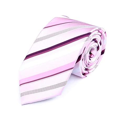 La corbata Raya rosada poliéster 7cm ancho Hombre Textil corbatas ...