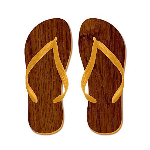 Cafepress Wood - Chanclas, Sandalias Thong Divertidas, Sandalias De Playa Naranja