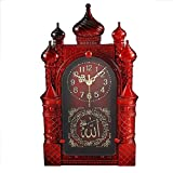 Jeteven 14.5 Inch Retro Wall Clock Silent Non Ticking Quality Quartz Battery Operated Antique Vintage Plastic Wall Clocks Large Decorative Islamic Wall Clock Red Wood Color