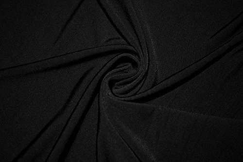 Polyester Dance (ITY Solid 2-Way Stretch Knit Polyester Lycra Spandex Apparel Craft Dance Dress Fabric 56