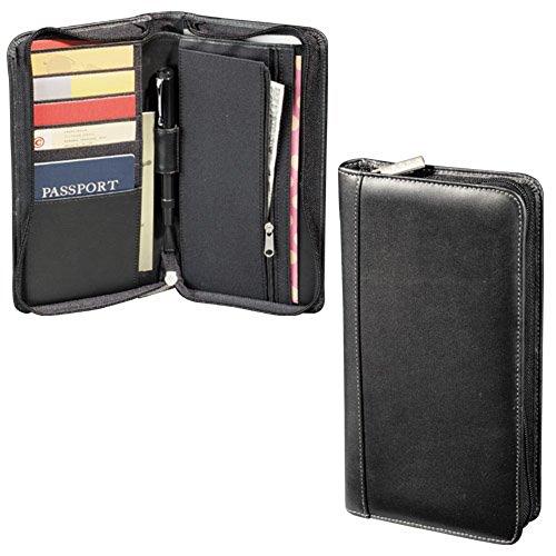 Millennium Leather Travel Wallet Black