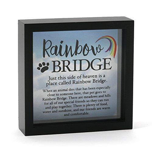 Enesco-Our-Name-is-Mud-Rainbow-Bridge-Pet-Rememberance-Glass-Memory-Shadow-Box-625-Black