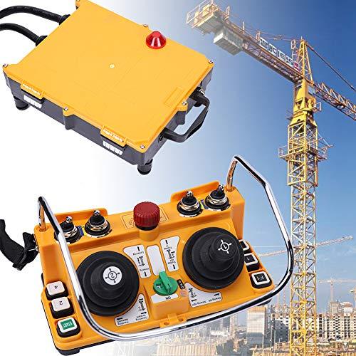 Transmitter Receiver, TBVECHI F24-60 24V Transmitter Receiver Industry Remote Control Wireless Joystick Crane for Bridge Crane/Overhead Crane/Chain Hoist/Monorails/Concrete Pump Truck/Mobil