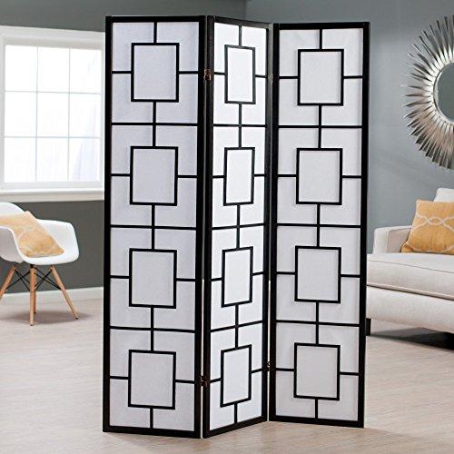 Lantern Silhouette 3-Panel Screen Room Divider