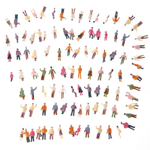 KINGZER 100pcs N Scale Painted Model Train Park Street Passenger People (1:150)