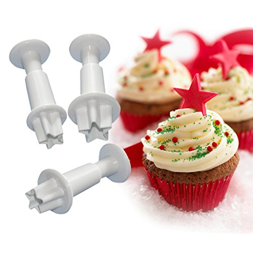 FOUR-C Baking Tools Star Cupcake Cutters Sugarcraft Cutter Kit for Cake Making Color - Star Cutter Plunger