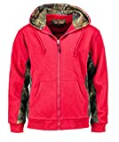 Trail Crest Women's Cambrillo Full Zip Up Hooded Sweatshirt Jacket W/ Magnet, Large, Coral