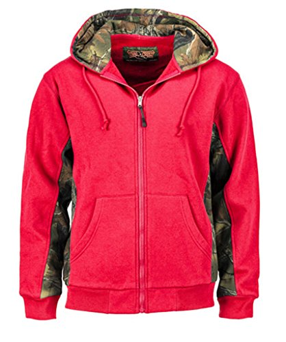 Trail Crest Women's Cambrillo Full Zip Up Hooded Sweatshirt Jacket, XL, Coral