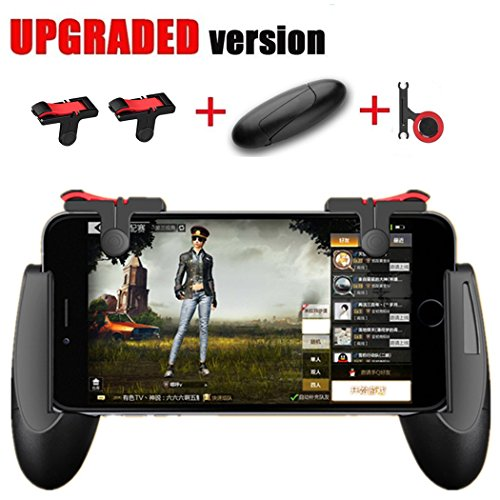 Mobile Game Controller [Upgrade Version] – WeeDee Fortnite PUBG Mobile Controller with Gaming Trigger,Gaming Grip and Gaming Joysticks for 4.5-6.5inch Android IOS Phones
