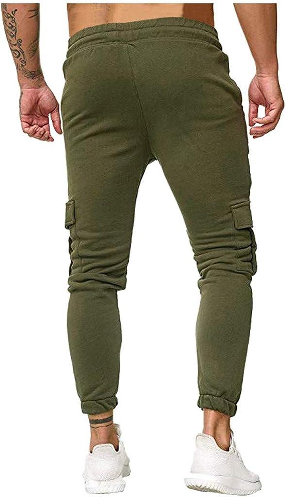 manadlian Homme Pantalon Jogging Pants de Sport Longs Pants Bas de Surv/êtement Sweat Pants Sarouel Sport Slim Ceinture /Élastique Sweatpants Travail Trouser Hommes Pantalon de Sport