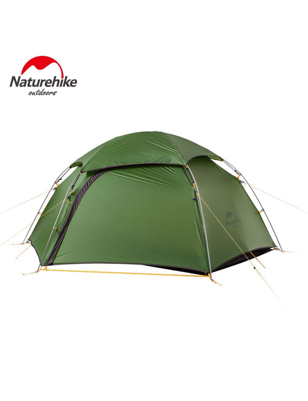 MDZH Tente Outdoor 2 Man 4 Saison Camping Tente Double Couches Ultra-Léger Tentes De Camp d'hiver 2.5Kg vert -