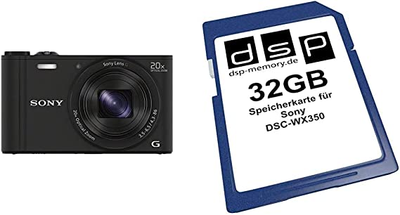 Sony Dsc Wx350 Digitalkamera 3 Zoll Schwarz 32gb Kamera
