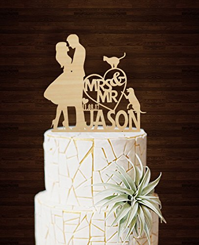 Unique Design Wedding Cake Toppers Bride And Groom Mr And