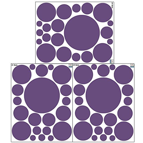 Create-A-Mural Polka Dot Wall Stickers -Violet -