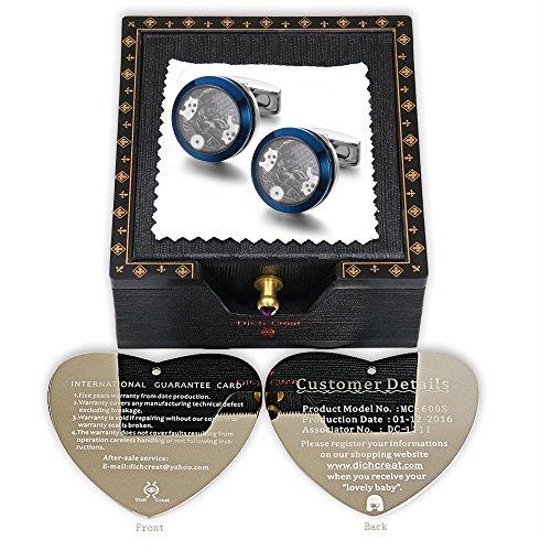 66ef0ba1af9e Dich Creat Funy Gear mecanismo de reloj partes de acero inoxidable Gemelos  con números de serie