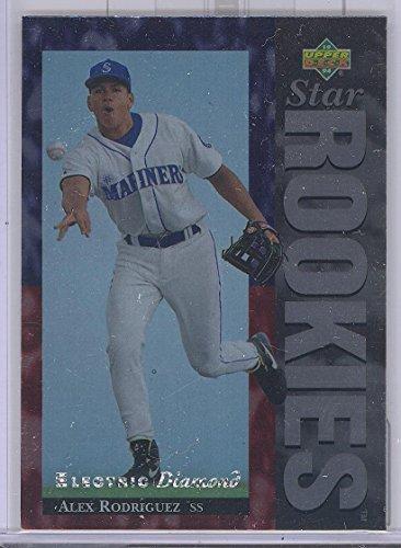 1994 Upper Deck Baseball Alex Rodriguez Electric Diamond Parallel Rookie Card (1994 Upper Deck Alex Rodriguez Electric Diamond)