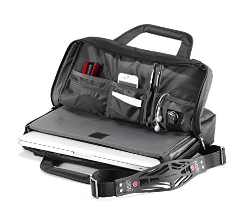 """i-stay Launch Slim-line 16"""" Briefcase Black - notebook cases (40.6 cm (16""""), Briefcase, Black, Metal, Nylon, Polyester, Monotone, Water resistant)"""