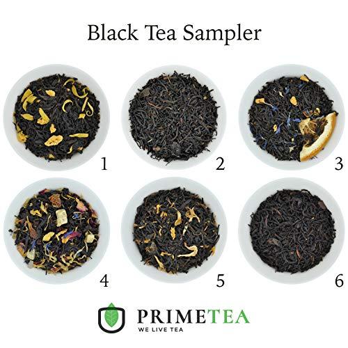 BLACK TEA SAMPLERS - 6 Ounce Total ≈ 90 Servings - Delicious Vegan All Natural Flavors Assortment of Loose Leaf Tea - Hot or Iced - No Artificial Flavors (Black Tea #1)