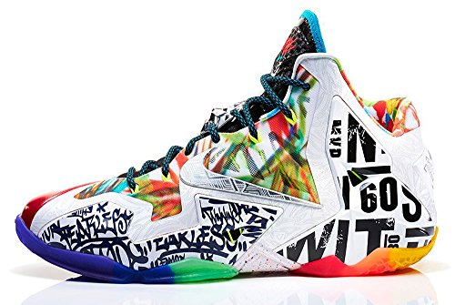 new style 34934 3e78c Nike Lebron XI Premium Men s Shoes Black Lava Silver Ice-Galaxy Blue  650884-400 (10 D(M) US) - Buy Online in UAE.   Apparel Products in the UAE  - See Prices ...