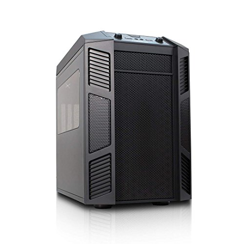 Rexgear 1 Micro ATX Cube PC Case with Removable Trays for Easy Installation, Black