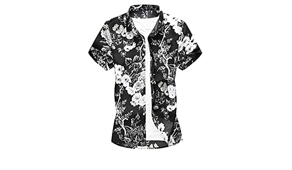 Amazon.com: YKARITIANNA Summer New Men Casual Summer Printed Button Short Sleeve Hawaiian T-Shirt Top Blouse: Arts, Crafts & Sewing