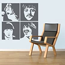 Beatles - Wall Decal Art Sticker lounge living room bedroom (Color: Forest Green Size: Medium)