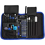 Repair Tools Kit, Precision Screwdriver Set with Flexible Shaft, INLIFE 81 in 1 Professional Electronics Magnetic Driver Kit with Portable Bag for Laptop, iPhone, iPad, Cellphone, PC, Computer, Camera