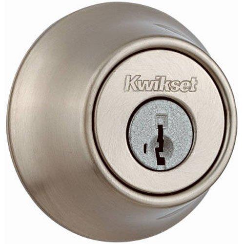 Kwikset Single Cylinder Deadbolt with SmartKey, Satin Nickel Finish