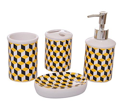 Tied Ribbons 4 Piece Bathroom Accessories Set(Ceramic, Multicolor)
