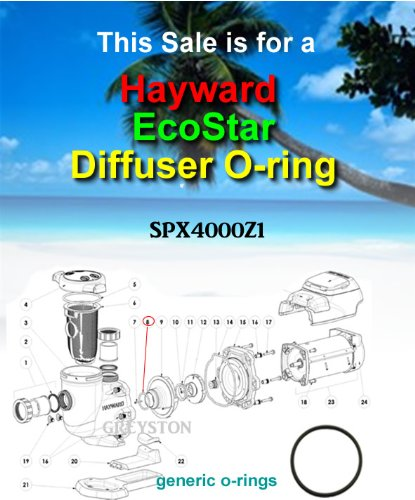 Hayward SPX4000Z1 Diffuser O-ring Replacement Kit for Select Hayward Northstar, Ecostar and Tristar - North Stores Star