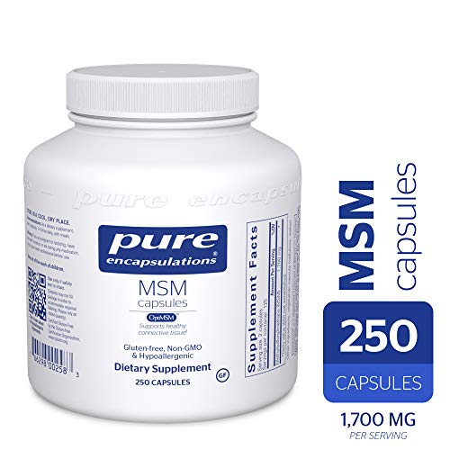 Pure Encapsulations - MSM Capsules - Hypoallergenic Supplement Supports Joint, Immune, and Respiratory Health* - 250 Capsules (Msm Pure 2000)