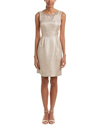 Tahari ASL Womens Embellished Textured Party Dress