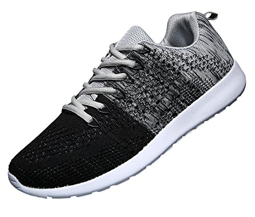 WELMEE Men's Knit Breathable Casual Sneakers Lightweight Ath