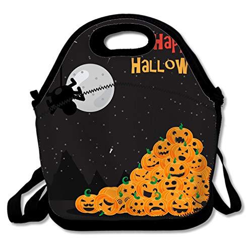 shunshunfeng Insulated Lunch Bag Halloween Pumpkin Mountain Lunchbox Waterproof Cooler Warm Bags Reusable Tote Box -