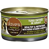 Dave'S Naturally Healthy Tuna Entr?E In Gravy For Cats, 3 Oz Can (Case Of 24 )