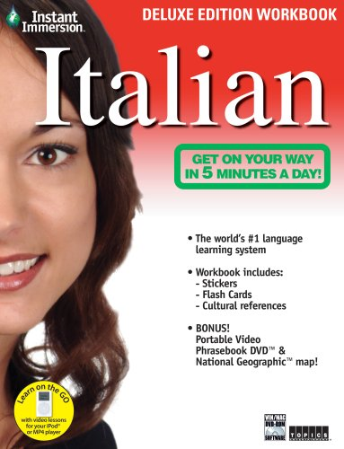 Instant Immersion Italian   Deluxe Edition Workbook  Italian And English Edition
