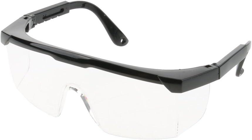 Gafas Protectoras Ajustables de Laboratorio Herramienta Laboral Material Trabajo Laboratorio - Lente clara, marco negro
