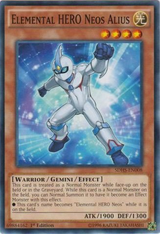 Yu-Gi-Oh! - Elemental HERO Neos Alius (SDHS-EN008) - Structure Deck: HERO Strike - 1st Edition - Common