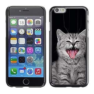 LECELL--Funda protectora / Cubierta / Piel For iPhone 6 -- Gato del bostezo --