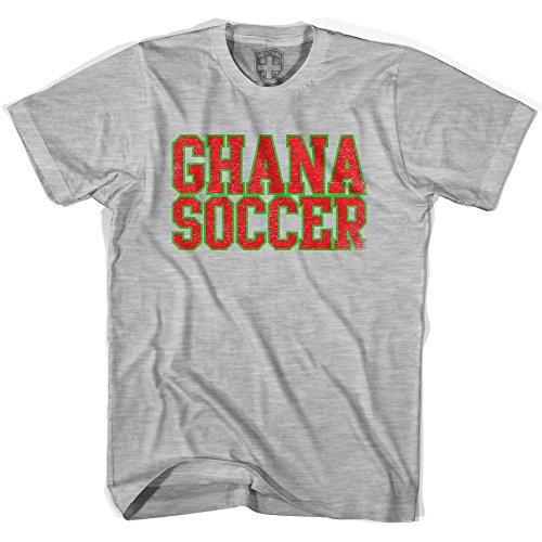 (Ghana Soccer Nations World Cup T-shirt, Grey Heather, Adult Small)