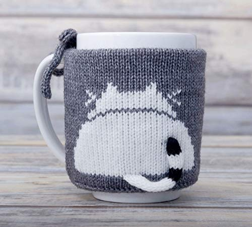 Pet Lover Gift Knit Slate Gray Coffee ()