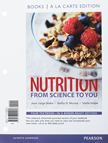 Nutrition: From Science to You, Books a la Carte Edition; Mastering Nutrition plus MyDietAnalysis with Pearson eText; 20