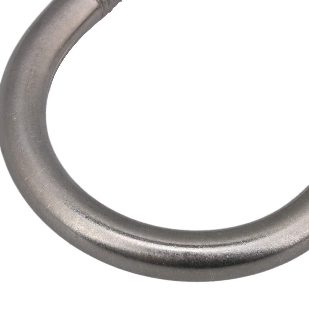 BQLZR M8 Lot de 2 boulons en U en acier inoxydable Diam/ètre int/érieur 4 cm avec /écrous /à plaque Argent/é