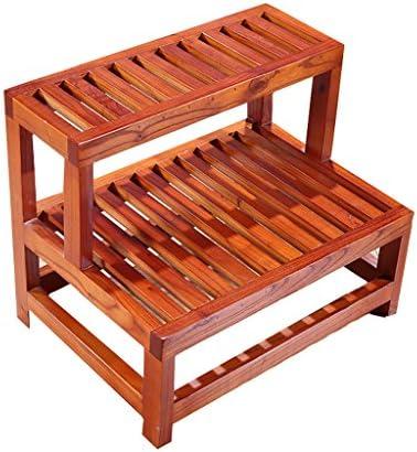MyAou-Shower Chair Doppelfußhocker Massivholz Tritthocker Bad Bad Doppelhocker Fußhocker