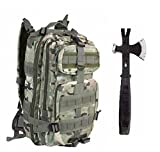 Ultimate Arms Gear Surviaval Combo: 13″ Tactical 3 in 1 Mulit-Use Emergency Supply Tool Chop Hatchet Axe + Flat Head Hammer + Wrecking Ripping Pry Bar with Rubberized Grip Handle + Taccam Camouflage Compact Level 3 Full Featured Assault Pack Backpack 3 Day Bug Out Bag Equipment Transport with Adjustable Shoulder Straps MOLLE Modular Range Military Army Hunting Camping Review