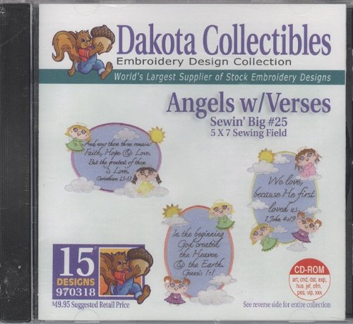 Dakota Collectibles Angels w/ Verses Embroidery Design Collection 15 Designs #970318 ()