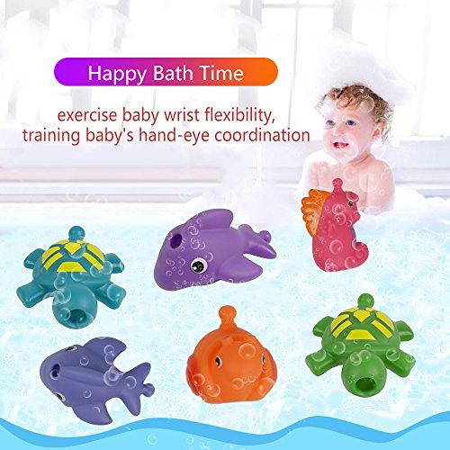 Bath Toys Tumama For Girls Boys Animal Floating Baby Water 6-Pack ...