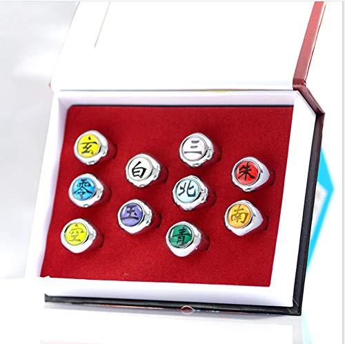Cosplayうちは サスケ はたけ カカシ ナルト コスプレ 指輪 漢字 リング 合金 暁組織 グッズ アクセサリー 大人 玩具 おもちゃ 道具 小物